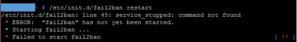 Failed to start fail2ban