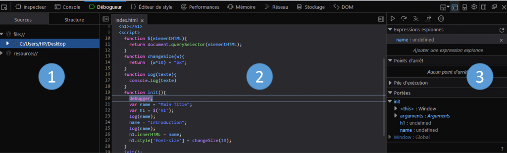 debugger javascript firefox