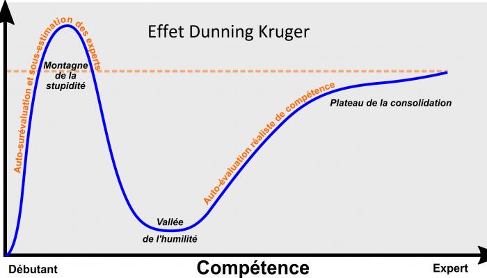 Apprentissage et l'effet Dunning Kruger | webdevpro.net